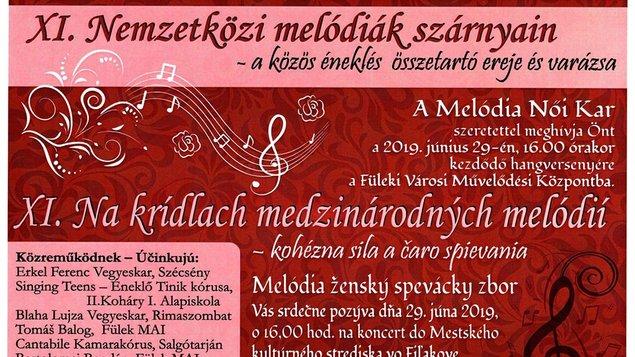 """XI. ročník stretnutia speváckych zborov """"Na krídlach medzinárodných  melódií"""""""