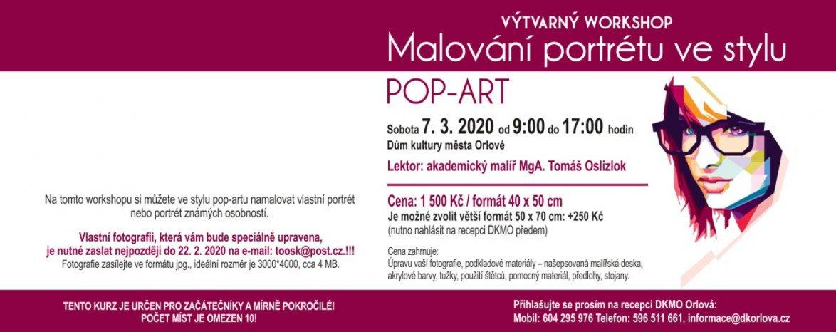 """Výtvarný workshop """"Malování portrétu ve stylu POP-ART"""""""