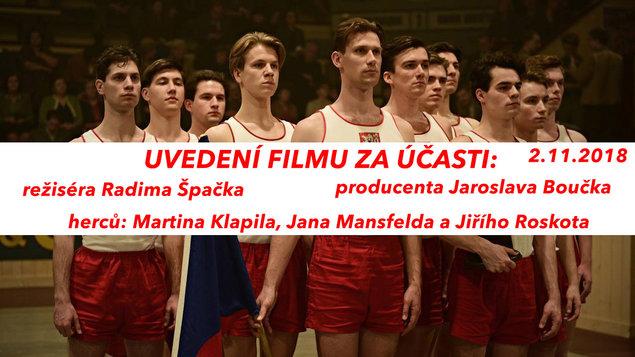 Uvedení filmu Zlatý podraz za účasti režiséra a herců