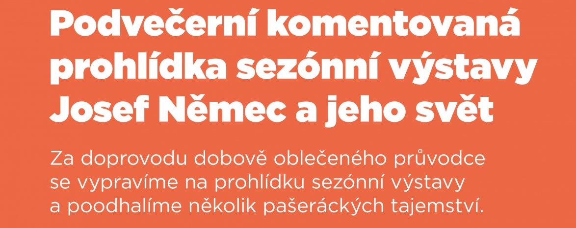 Podvečerní komentovaná prohlídka sezónní výstavy Josef Němec a jeho svět