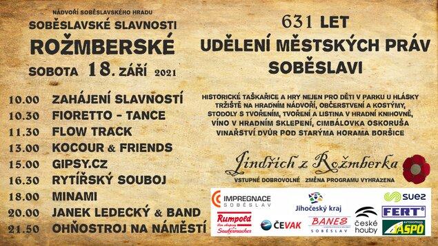 Soběslavské slavnosti Rožmberské 2021