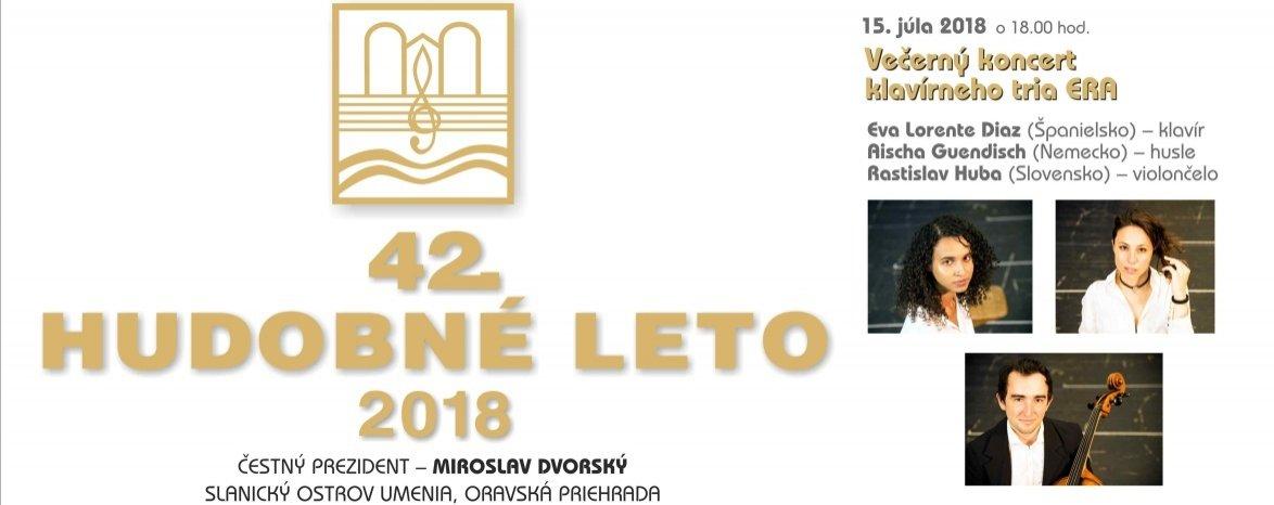 HUDOBNÉ LETO 2018 - VEČERNÝ KONCERT KLAVÍRNEHO TRIA ERA