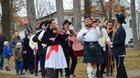 Fašanková obchůzka v Uherském Brodě folklorních souborů Olšava, Oldšava, Jakub a Olšavěnka