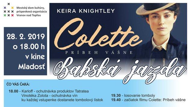 273777fc9 Babská jazda s filmom Colette: Príbeh vášne – program a vstupenky ...
