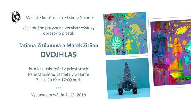 Vernisáž výstavy Tatiany Žitňanovej a Mareka Žitňana